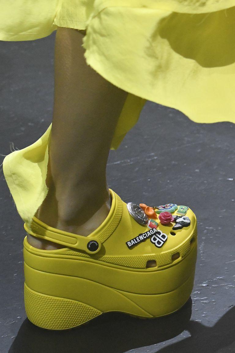 croc platform heels