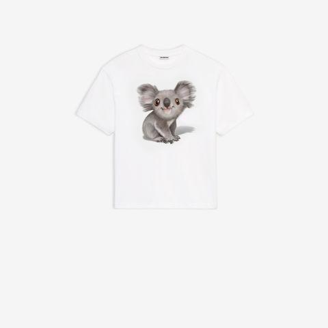 Koala, T-shirt, French bulldog, Top, Rat, Marsupial, Bow tie, Canidae, Sleeve,