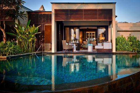 Property, Swimming pool, House, Building, Real estate, Home, Resort, Architecture, Estate, Water,