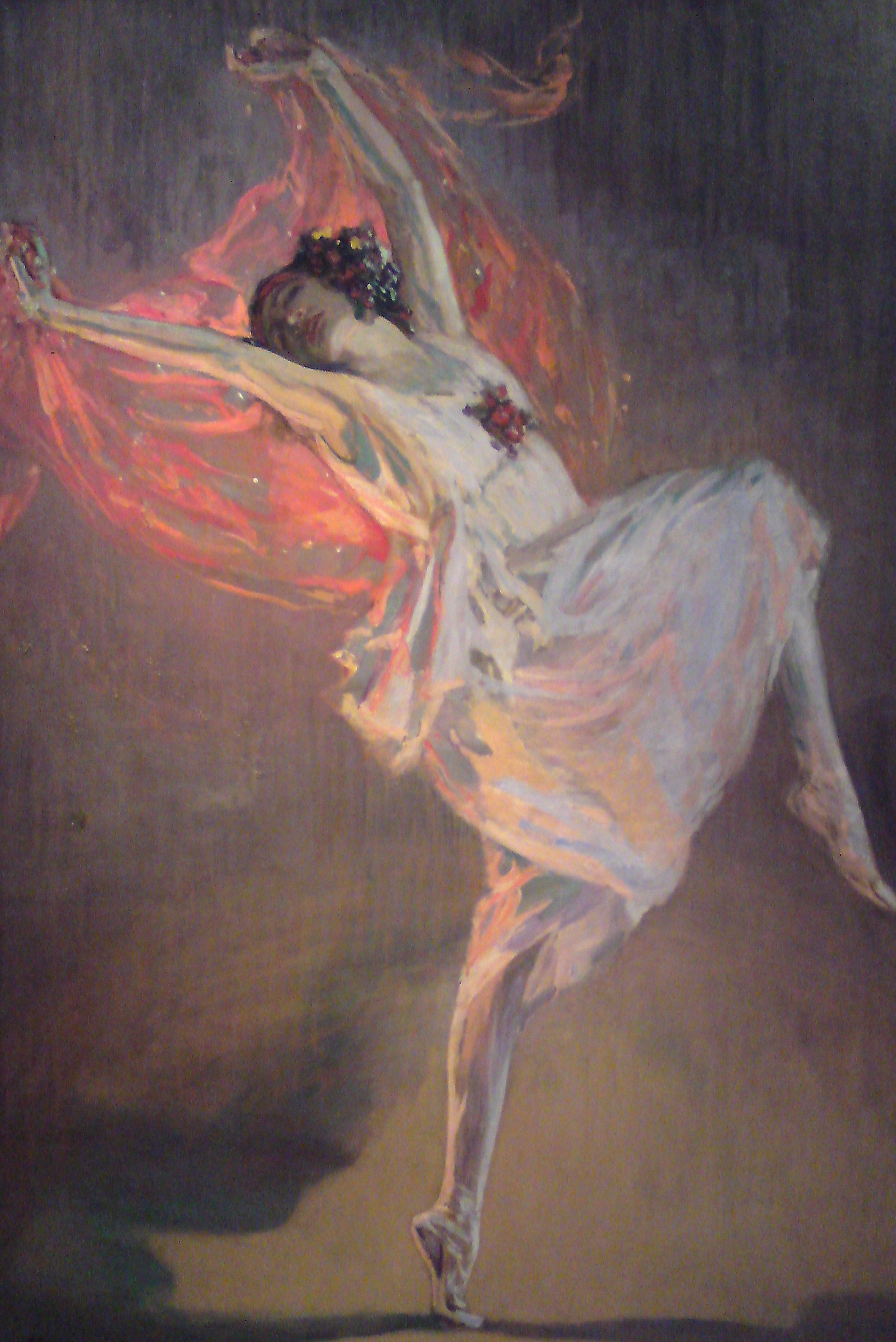 Ballerina Anna Pavlova (1881-1931), 1910s. Artist: Lavery, Sir John (1856-1941)