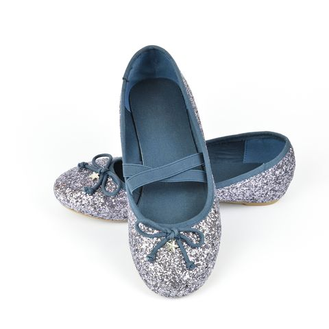 Ballerina flat shoes on white