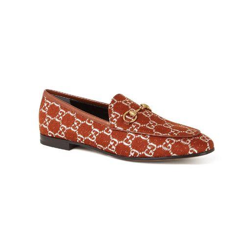 gucci jordaan loafer met leren details en horsebit