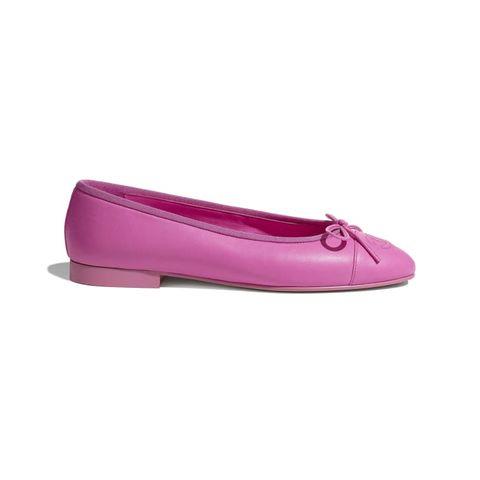 chanel pink ballet flat shoes ballerina