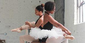 ballerine di colore danza punte