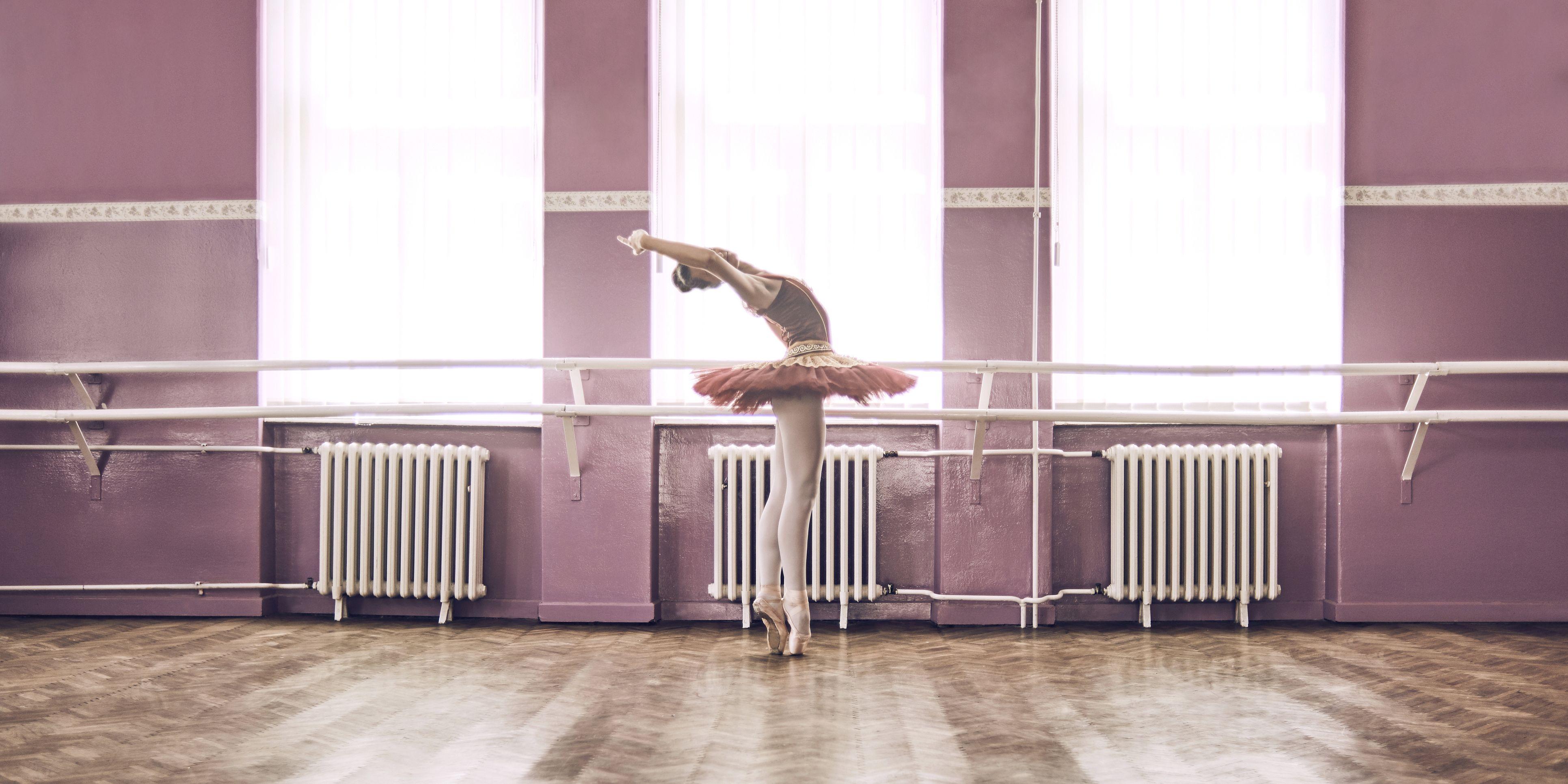 ballet dancer practicing her moves