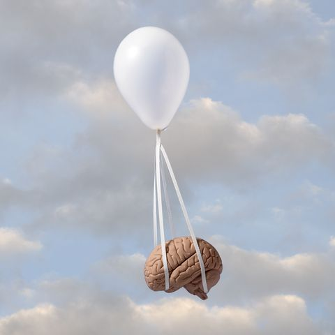 balloon carrying human brain