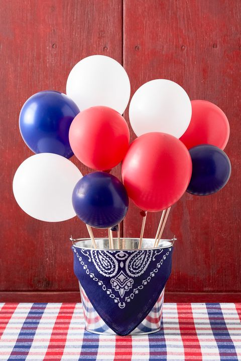 balloon centerpiece 4th of july crafts