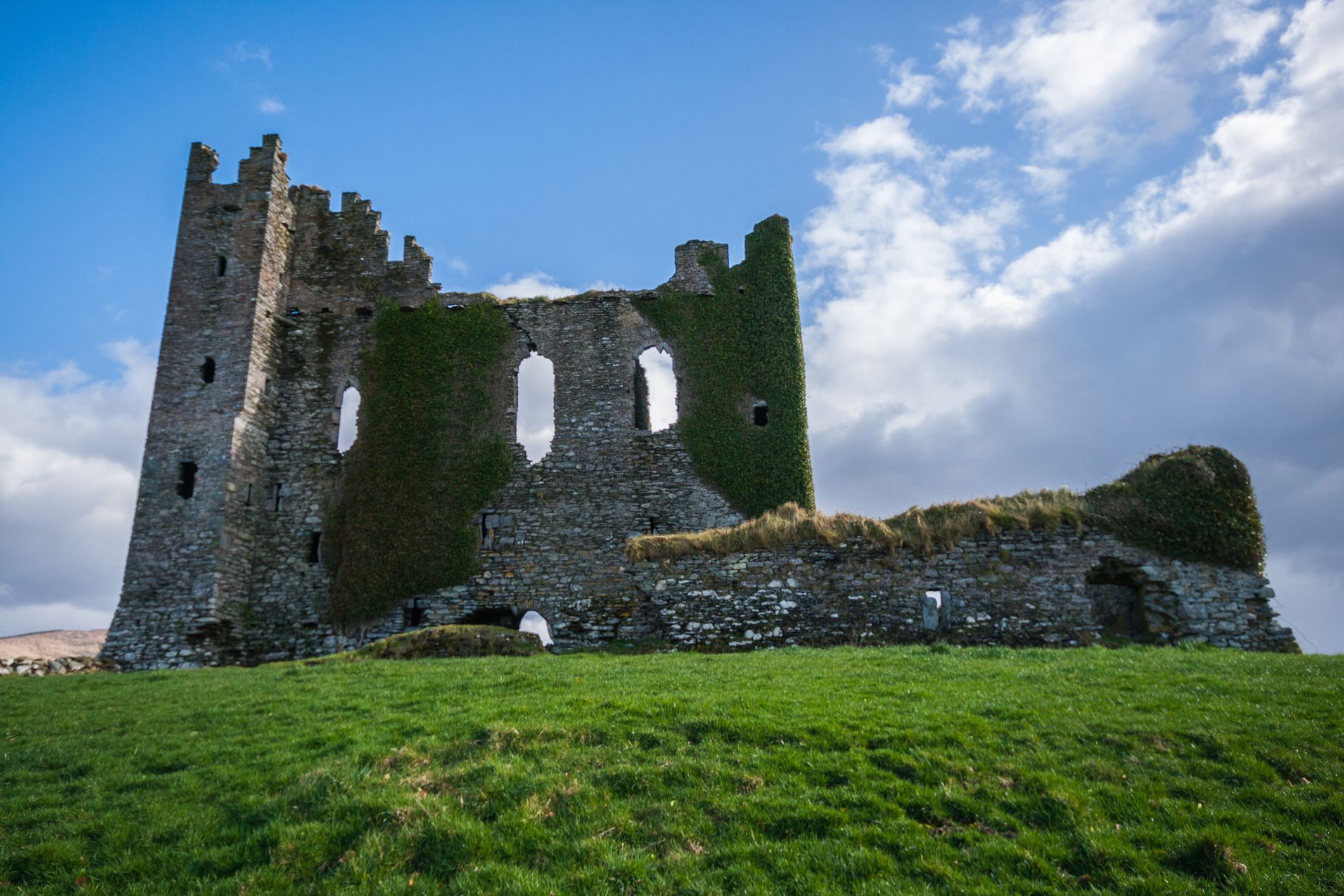Ballycarbery castle in Kerry, Ireland
