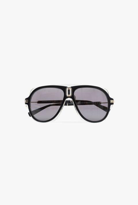 Eyewear, Sunglasses, Glasses, Personal protective equipment, aviator sunglass, Vision care, Goggles, Eye glass accessory, Transparent material, Rectangle,