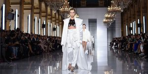 Cara Delevingne on the Balmain catwalk