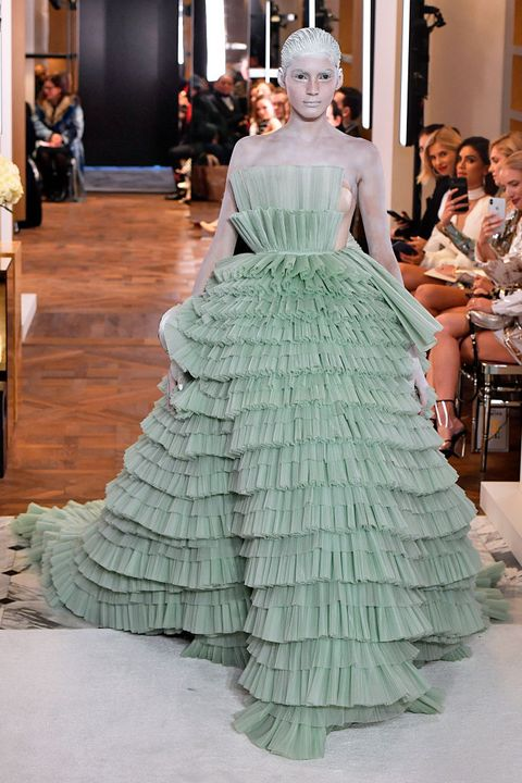 Fashion, Fashion model, Gown, Haute couture, Dress, Clothing, hoopskirt, Shoulder, Victorian fashion, Fashion design,