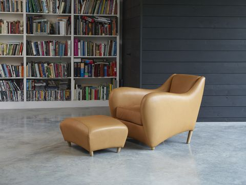 the balzac armchair and stool by matthew hilton for scp