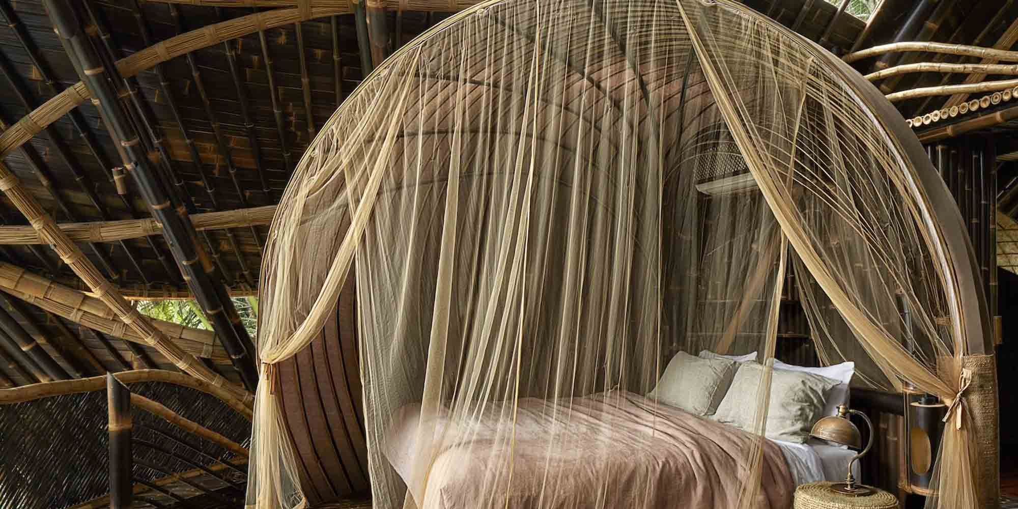 Deze villa in de jungle van Bali is volledig gemaakt van bamboe