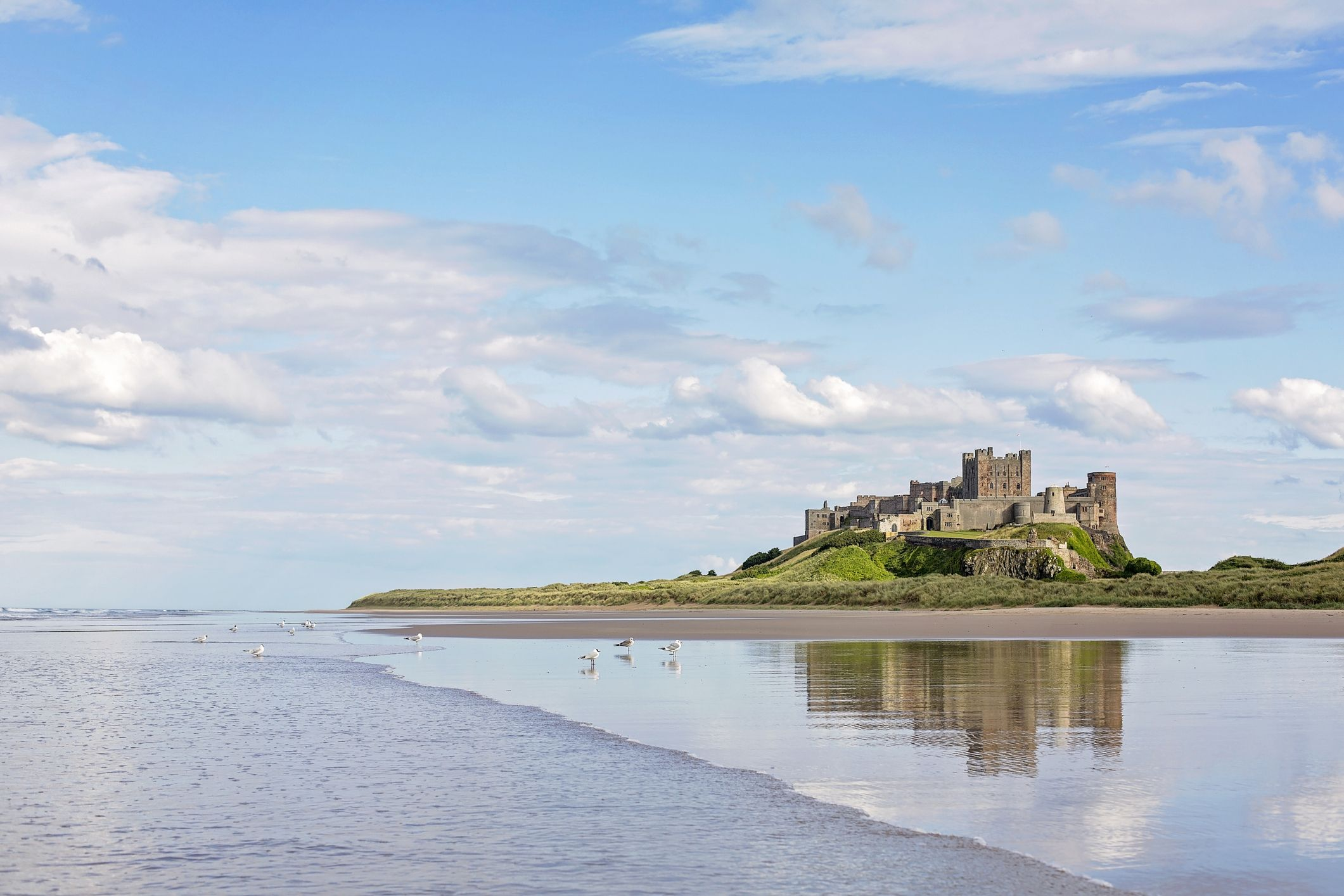 Bamburgh in Northumberland has been ranked as the UK's favourite seaside town