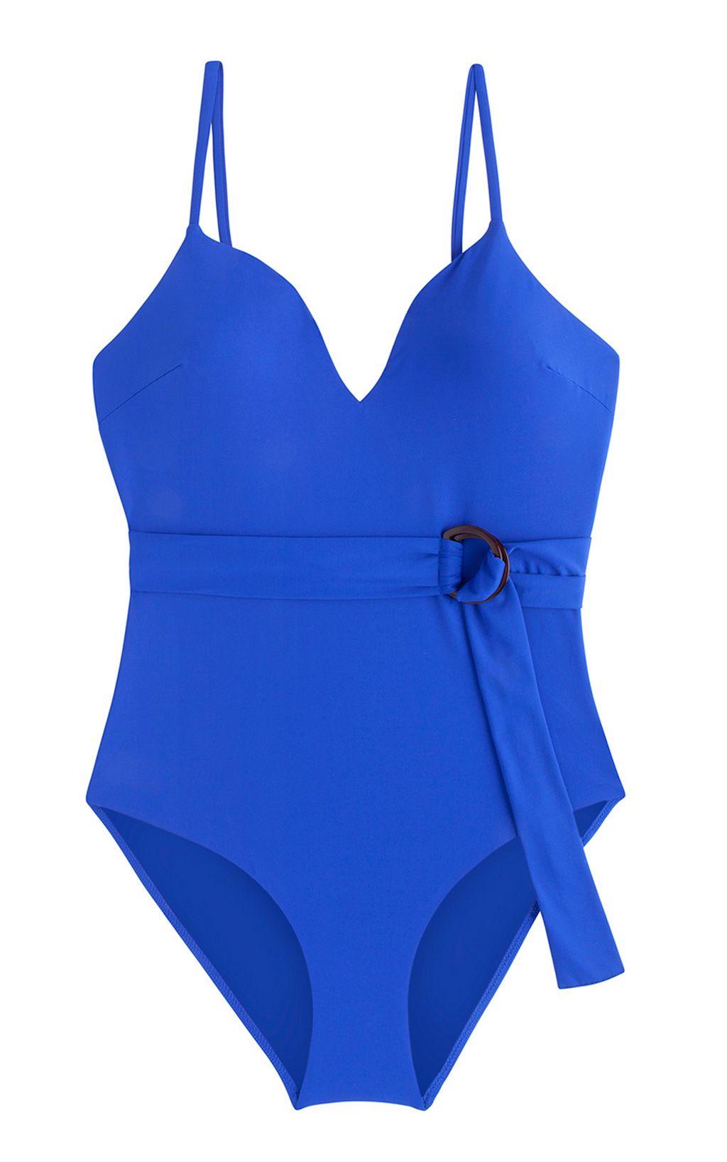 Bañador azul con cinturón, Oysho