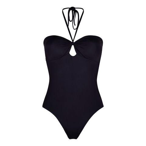 Swimwear, One-piece swimsuit, Clothing, Monokini, Black, Maillot, Bikini, Swimsuit bottom, Lingerie top, Leotard,