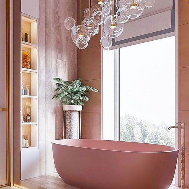 ideas para decorar cuartos de baño en rosa en pinterest