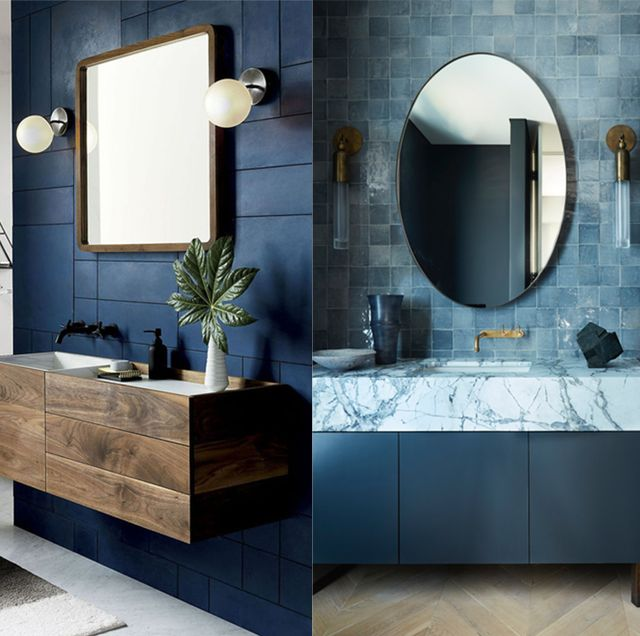 baños decoracion azul