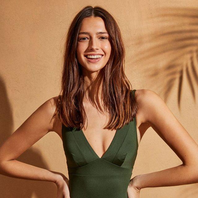 bañador verde de women'secret rebajado