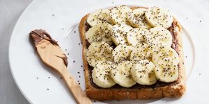 banana and chia seeds toast