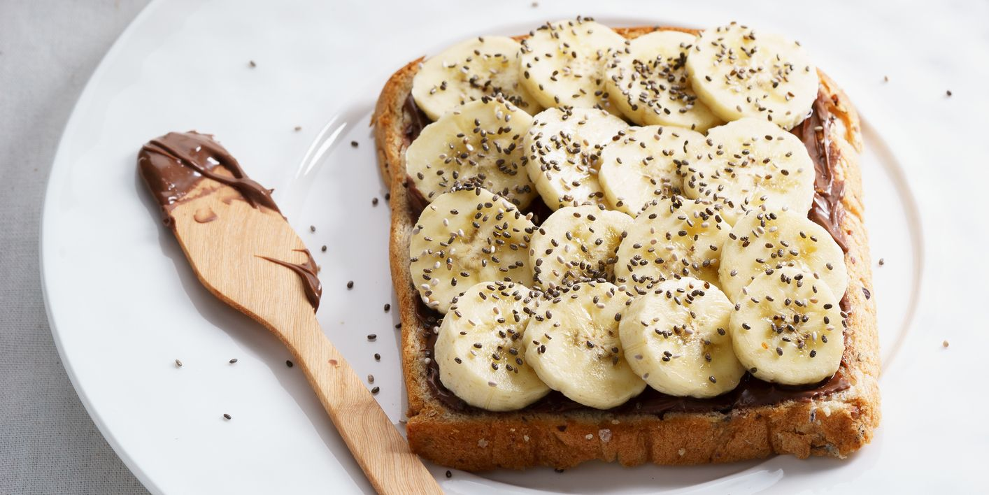 banana and chia seeds toast