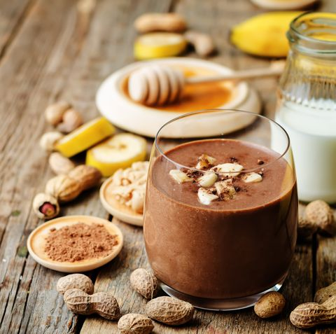 banana chocolate peanut butter smoothie