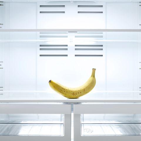 banana in the refrigerator