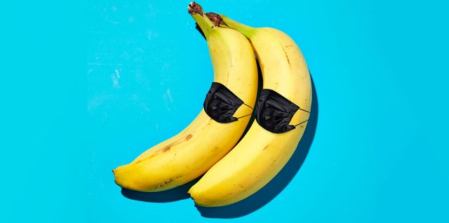 bananas with masks on