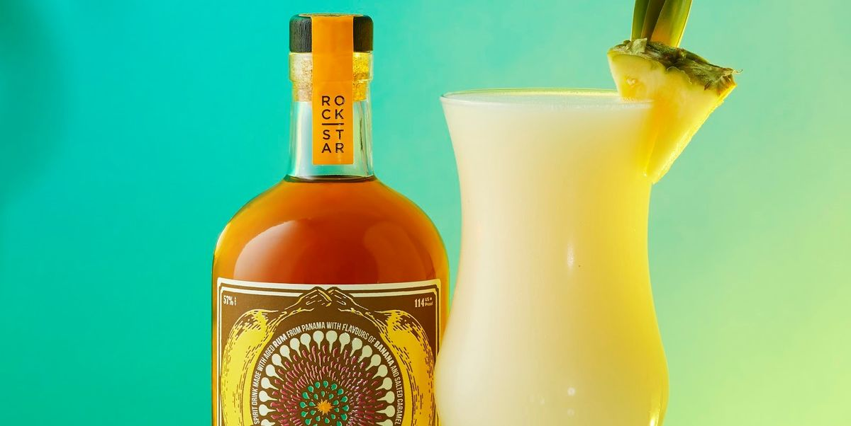 How to make a banana pina colada cocktail