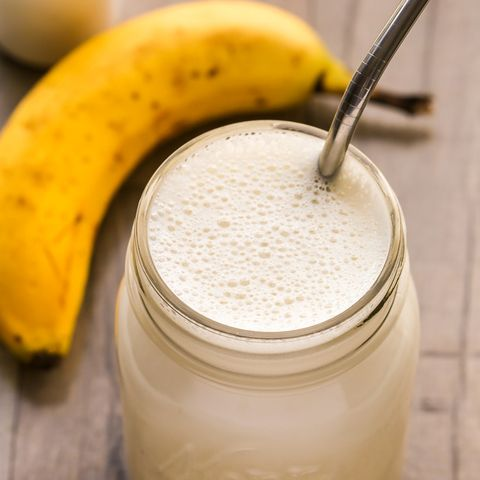 Food, Banana family, Banana, Smoothie, Milkshake, Ingredient, Lassi, Fruit, Drink, Health shake,