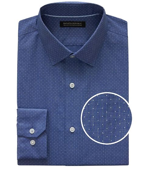 Dress shirt, Clothing, Collar, Blue, Shirt, Button, Cobalt blue, Sleeve, Pattern, Design,