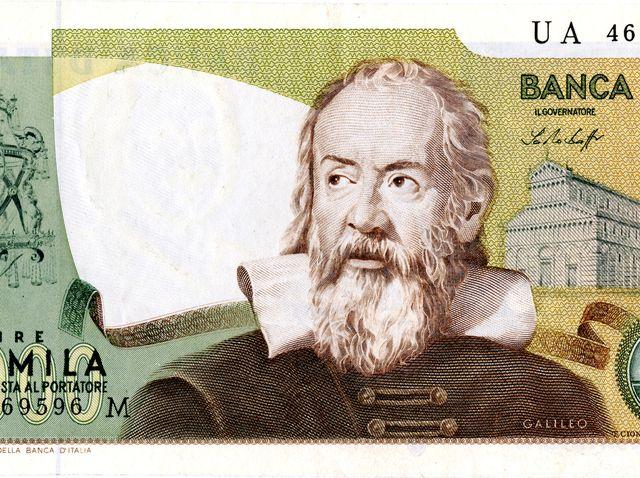 Banca D'Italia 2000 Lire Galileo Note Front