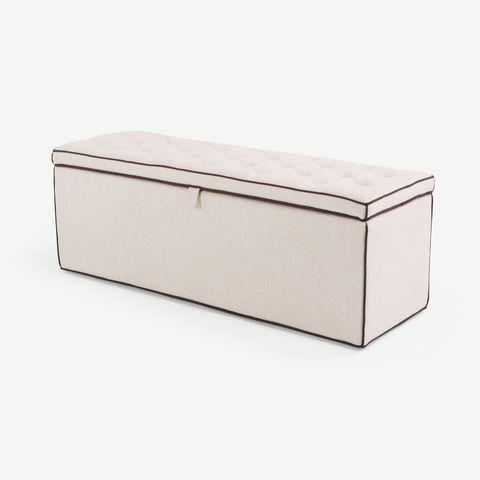 banco con almacenaje acolchado