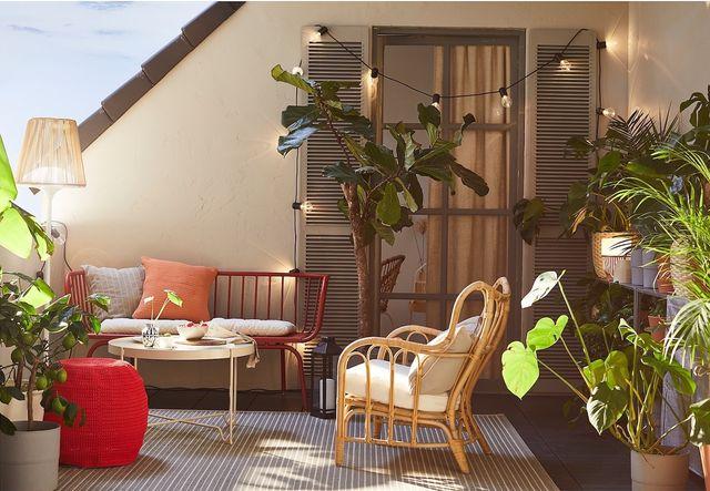 ideas para decorar terrazas con ikea