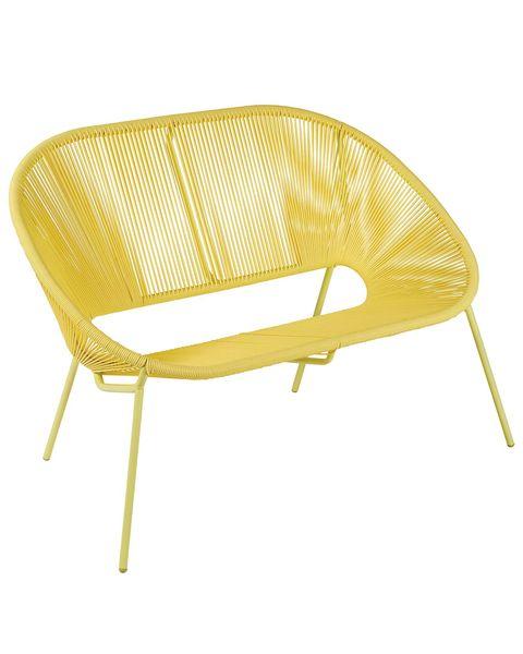 Muebles de exterior: Banco modelo Acapulco amarillo