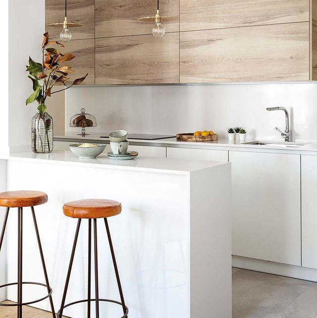 cocina estilo industrial zona de aguas y cocción