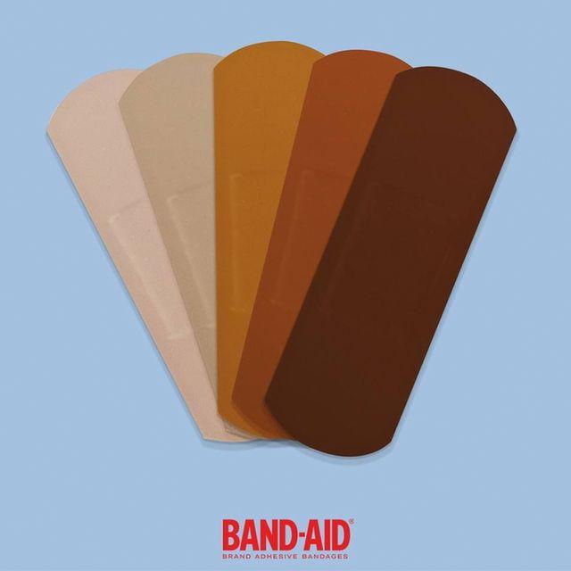 band aid skin color adhesive bandages
