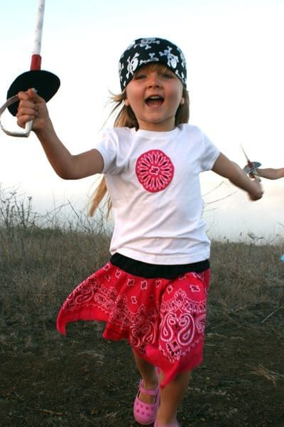 diy bandana skirt pirate costume