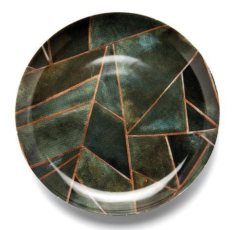Plato llano con estampado geométrico