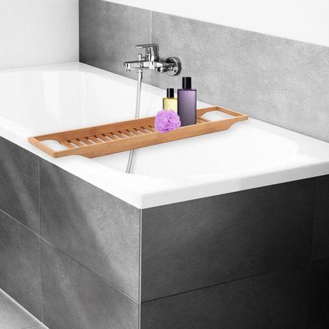 bandeja de bañera de bambú