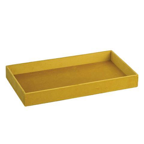 Bandeja de terciopelo amarillo