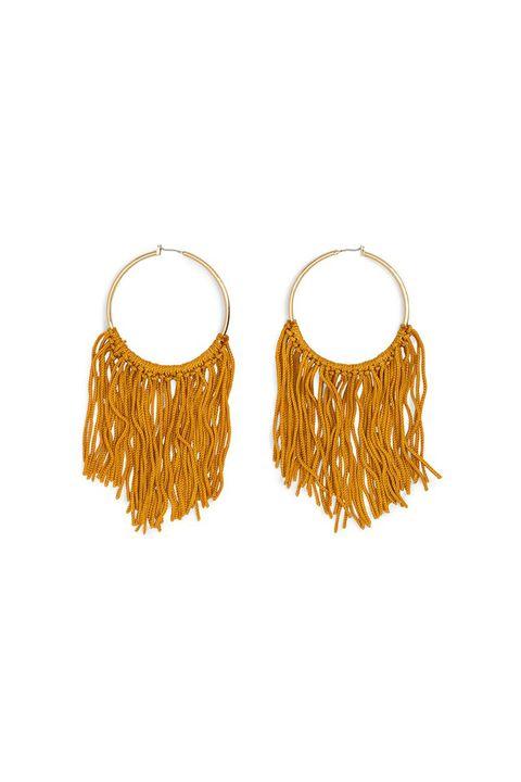 Earrings, Yellow, Fashion accessory, Jewellery, Costume accessory, Body jewelry, Metal,