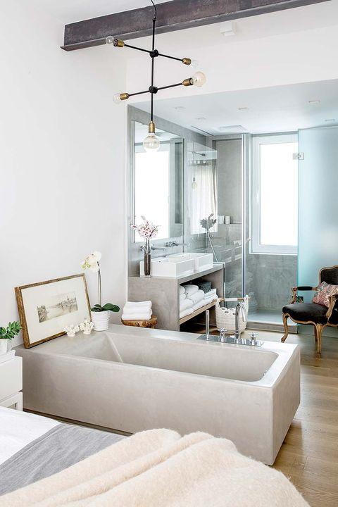 reforma piso madrid dormitorio con baño abierto