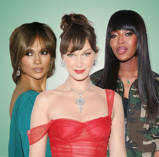 halle berry, bella hadid, and naomi campbell