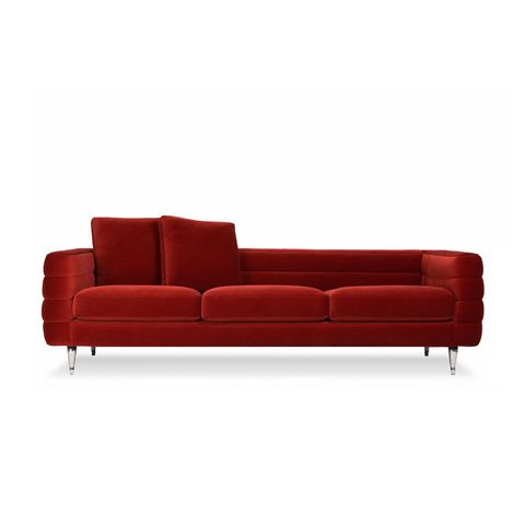 Couch, Furniture, Sofa bed, Red, Leather, studio couch, Comfort, Chaise longue, Room, Armrest,