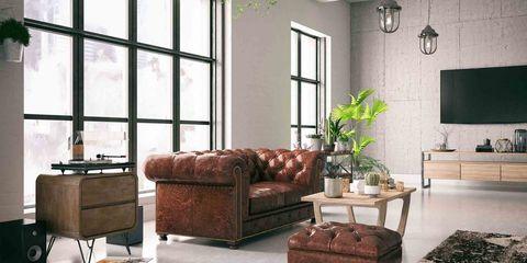 Bank of sofa
