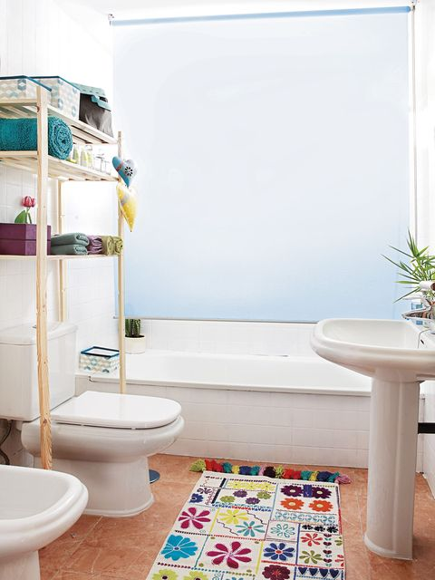 Bathroom, Room, Property, Interior design, Turquoise, Toilet, Home, Toilet seat, House, Floor,