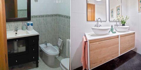 baño moderno antes y después