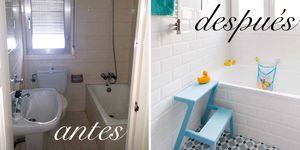 Baño antes y después