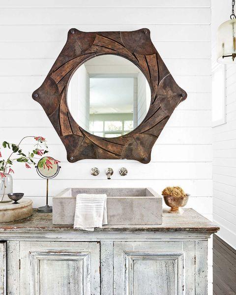 1262bccee4e Espejos de lavabo: madera estilo rústico